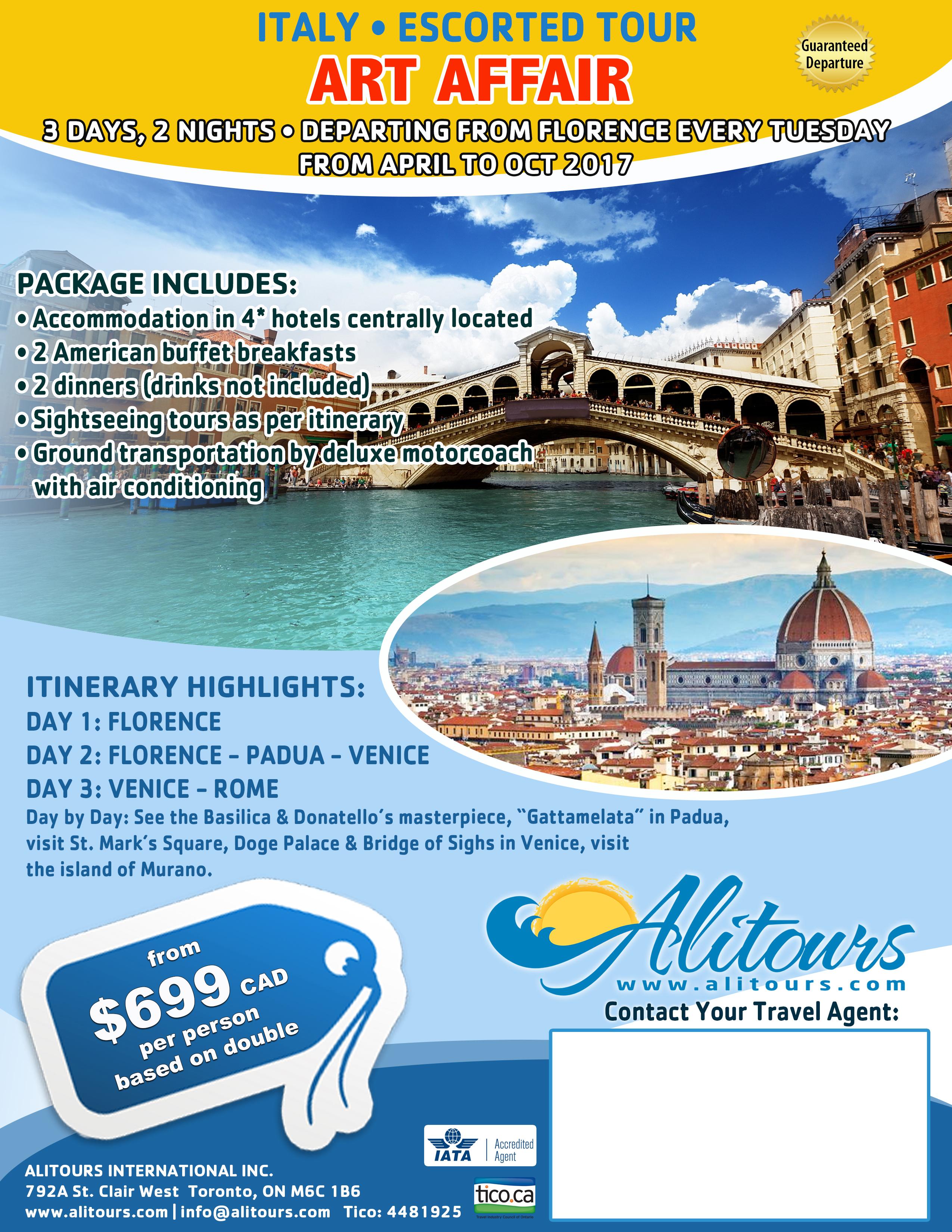 Art Affair Tour Italy