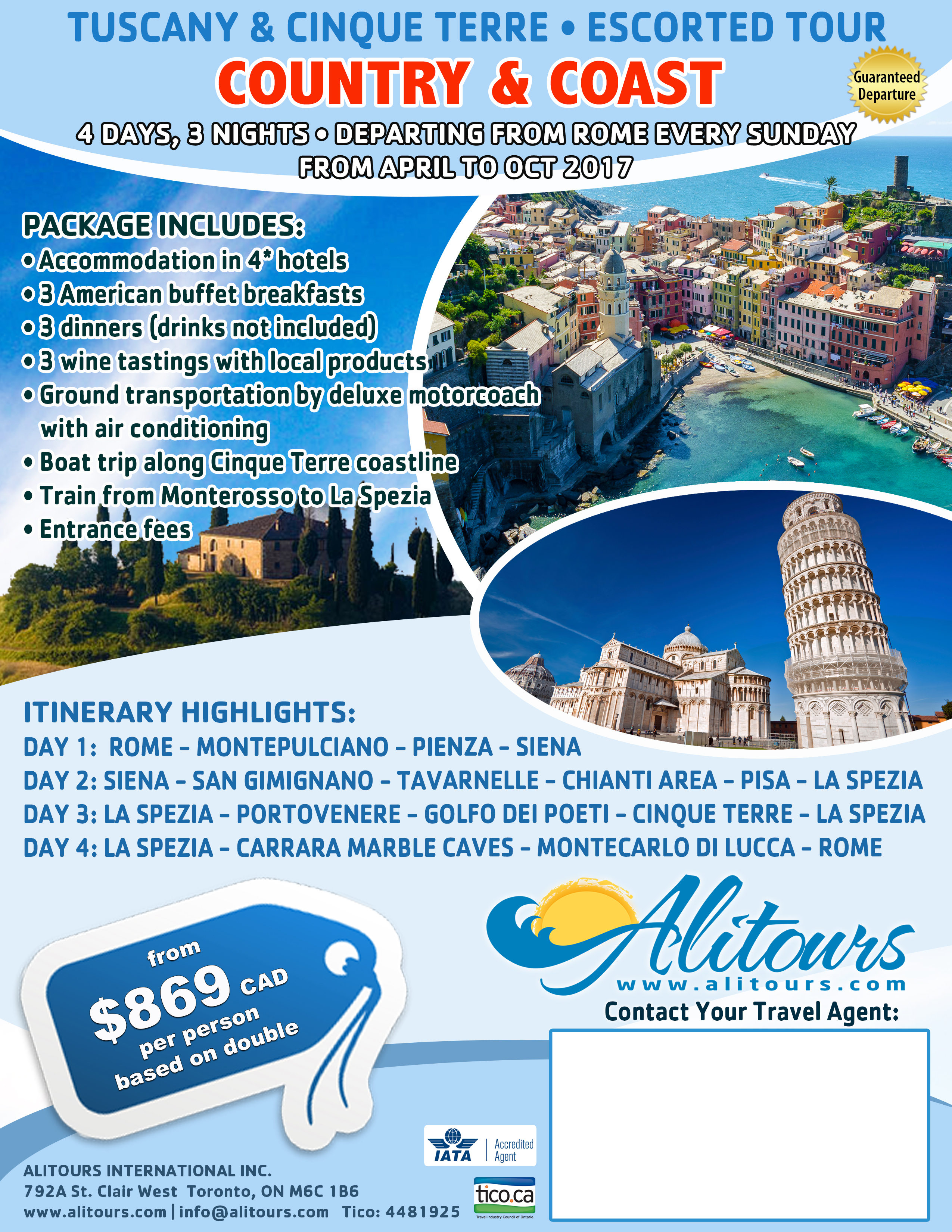 Tuscany and Cinque Terre Tour Italy